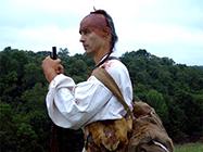 Indian reenactor